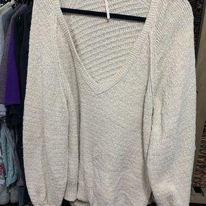 Free people beige sweater
